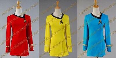 Star Trek TNG Female Duty Uniform Halloween Party Dress Cosplay Costume+3 Colors (Star Trek Tng Halloween Costumes)