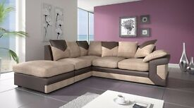 BRAND NEW DINO JUMBO CORD CORNER UNITAND 3+2 SEATER SOFA SUITE ON SPECIAL OFFER