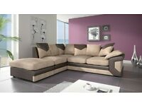 BUY - |* BRAND NEW *| Large Italian Style DINO SOFAS 3+2 OR Corner CORD FABRIC + SAME DAY DELIVERY
