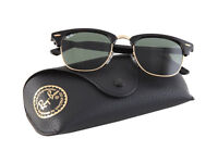 BRAND NEW Rayban Clubmaster RB3016 Black Green Lens Top quality Summer Sunglasses - Size Medium