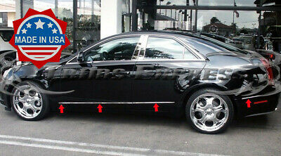 2008-2013 Cadillac CTS 4Dr Sedan Flat Body Side Molding Trim 8Pc Stainless Steel for sale  Shipping to Canada
