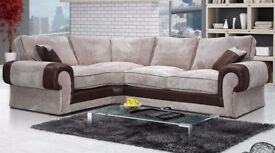 🔥REDUCED PRICE🔥CHRISTMAS OFFER🔥BRAND NEW🔥TANGO FABRIC CORNER SOFAS🔥EXPRESS DELIVERY🔥2 COLORS