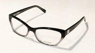 New VERA WANG V323 Cat Eyes Black Clear 53/17/136 Eyeglass Frames Spring Hinges