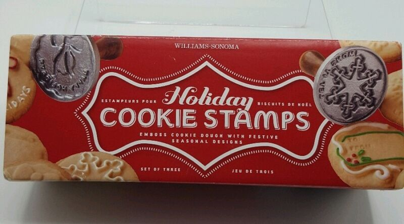 WILLIAMS-SONOMA Holiday Cookie Stamps Wreath Snowflake & Gift Tag NORDICWARE