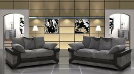 SPECIAL OFFER !! 3 AND 2 SEATER SOFA -AVAILABLE IN GREY AND BLACK and BROWN AND CREAM COLOR