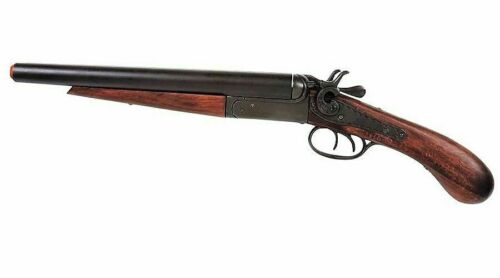 Denix Replica M1881 Howitzer Pistol Grip Double Barrel Coach Shotgun Replica