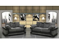 **JUMBO OFFER ** 3 AND 2 SEATER SOFA AND FABRIC CORNER SOFA AVAILABLE IN 2 COLOUR BLACK AND GREY