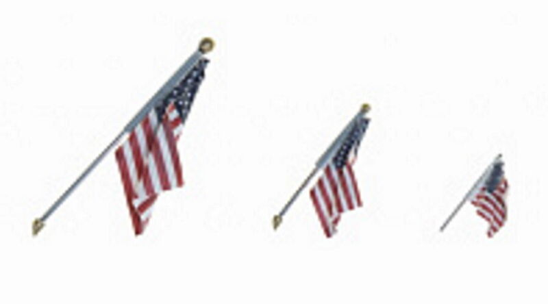 New Woodland Scenics N Scale Wall Mount Small US Flag JP5953