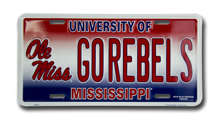 """New Mississippi State /"""" DIAMOND /"""" License Plate NCAA"""