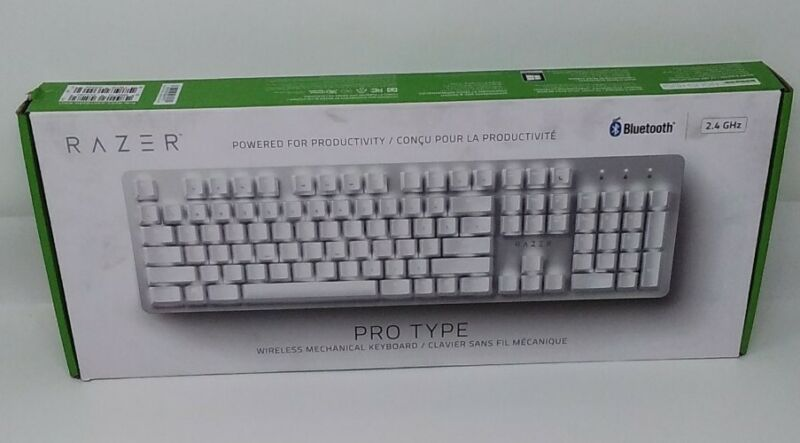 Razer Pro Type White Mechanical Productivity Wireless Keyboard