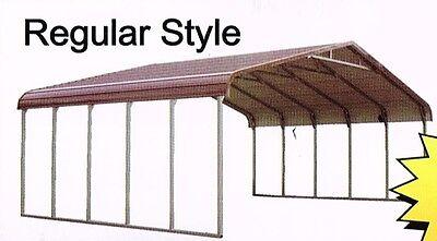 Triple-wide Steel Carport Cover  28 X 21 Free Del. Install. Nation-wide