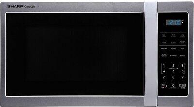 Sharp 0.9-cu ft 900-Watt Countertop Microwave Stainless Stee