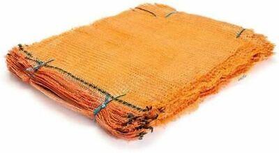 Zill - Sacchi in rete a maglia (raschel), 100 pezzi, dimensioni: 31 x 50 cm