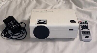 RCA RPJ119 WHITE HOME THEATER PROJECTOR - Tested - Remote and Power Source
