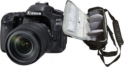 NEW Canon EOS 80D Camera + EF-S 18-135mm USM Lens + Bag - UK NEXT DAY DELIVERY