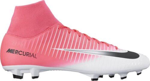 Détails sur Homme Nike Mercurial Victory VI Dynamic fit blanc rose noir Chaussures de Football afficher le titre d'origine