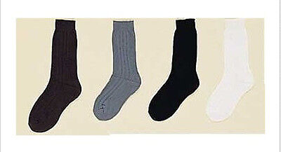 Boys Nylon Dress Socks - Asstd  Colors Sizes: S-M-L  12 Pairs Lot ( 00020C  ^*)