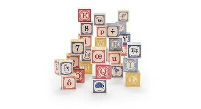 New Uncle Goose French ABC Blocks Wood Alphabet