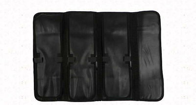 "11-Pocket 18"" Portable Leather Knife Carry Case Bag with a Grip / Clip NEW"