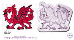WELSH DRAGON Medium Craft Sugarcraft Wax Resin Soap Sculpey Silicone Mould Mold