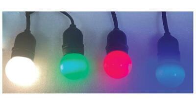 Elara LED Festoon Lights, Multicoloured, IP44 - ELARA (COLOUR)
