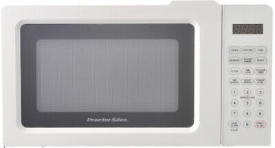Microwave Oven Digital Countertop Kitchen LED Display Defrost Cooking White 700W