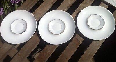 Set of Three Block Bidasoa 'Espana-Platino' Saucers, Made in Spain