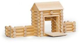 Varis Wooden Fort with Draw Bridge Construction Set (80 Pieces)