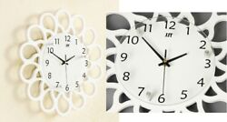WHITE HANGING MODERN NOT MULTI PHOTO FAMILY PICTURE FRAME & TIME WALL CLOCK NEW