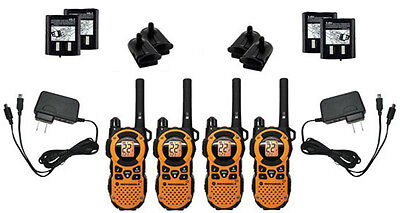 4X Motorola MT351R Walkie Talkie FRS GMRS 2-Way Radios Ni-MH Weather VibraCall for sale  Shipping to Nigeria