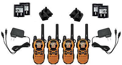 4X Motorola MT351R Walkie Talkie FRS GMRS 2-Way Radios Ni-MH Weather VibraCall