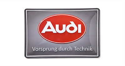 Blechschild Plaume Original Audi Audi Tradition Schild Ur-quattro Reklame NSU