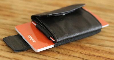 oy Mini Wallet SCHWARZ Kreditkartenetui Kartenhalter Neu (Boys Wallet)