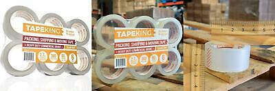 Tape King Clear Packing - 60 Yards Per Roll (6 Refill 6 Rolls / 2