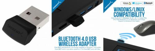 Sabrent USB Bluetooth 4.0 Micro Adapter for PC