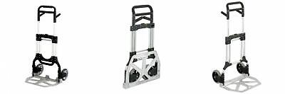 Safco Products Stow Away Heavy-duty Hand Truck 4055nc Silverblack