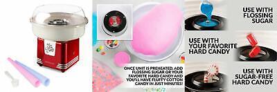 Nostalgia Pcm405retrored Retro Series Hard Sugar-free Cotton Candy...