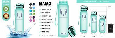 MAIGG Best Sports Water Bottle - 17oz & 32oz - Eco 17oz, Aquamarine-1