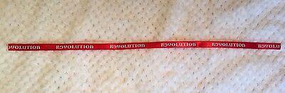 Red Revolution Ribbon White 12mm Wide. 26cm Long