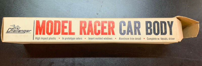 RARE! VINTAGE 1/24 K&B CHALLENGER PORSCHE SLOT CAR BODY (NOS) RACE CAR #1802-1