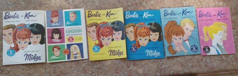 Vintage Barbie Booklets Newletters Lot of 6
