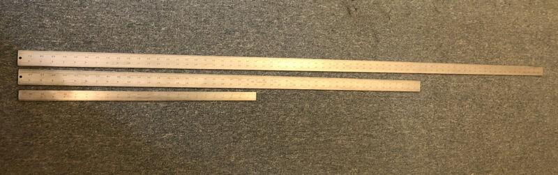 "Starrett Heavy Spring Tempered Steel Rules 3 Sizes! (24"",48"",& 72"")"
