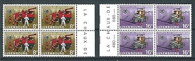 LUXEMBOURG 1983 FIRE BRIGADES PAIR MNH BLOCK 4 CAGB£12.40 NICE!