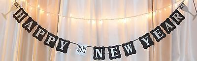 Happy New Years 2017 Party banner decoration. Gold/silver](New Years Decorations)