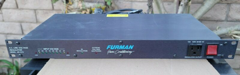 Furman AR-1215 AC Line Voltage Regulator / Power Conditioner Exct