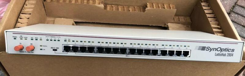 Bay Networks Synoptics Lattishub 2804 New In Box. Never Used.