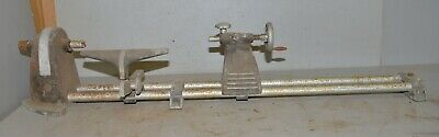 Early Aluminum Bench Lathe For Wood Or Metal Turning Collectible Parts Repair
