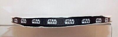"Star Wars Printed Grosgrain Ribbon 10mm (3/8"") wide 1 2 5m lengths Black & White"