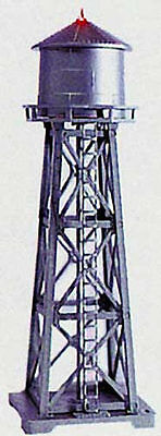 NEW Model Power Lighted Water Tower Built-Up w/2 Figures HO 630