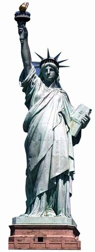 Statue of Liberty Cardboard Cutout Figure 191cm Tall - Great for Themed Parties